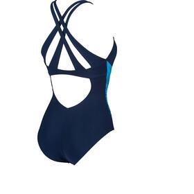 arena Maia Criss Cross Back Traje de baño de una pieza Mujer, navy/bright blue